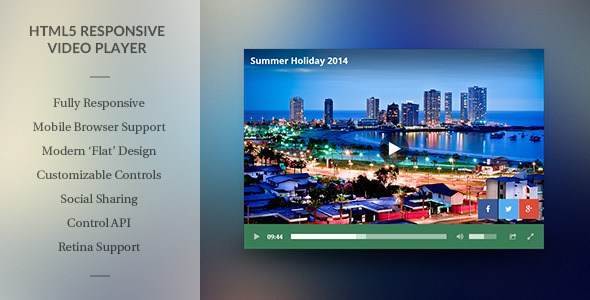 Download – Modern HTML5 Responsive Video Player