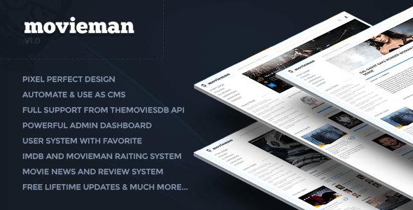Movieman v0.1 – Premium Movies, TV Shows & News CMS