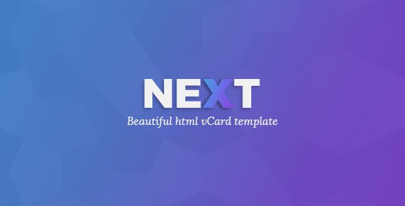 NEXTVCARD v1.0 – Personal CV/Vcard HTML5 Template
