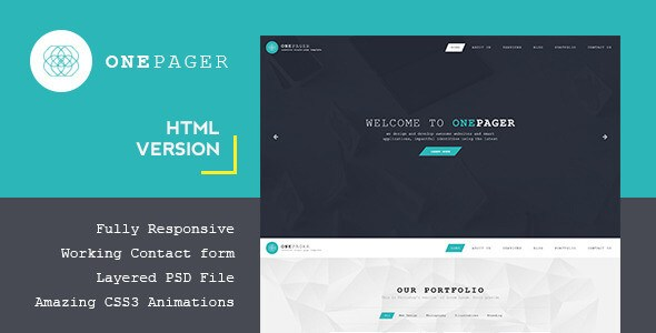 Onepager – Responsive One Page HTML5 & CSS3 Template