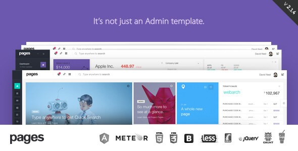 Pages v2.1.3 – Admin Dashboard Template & Web App