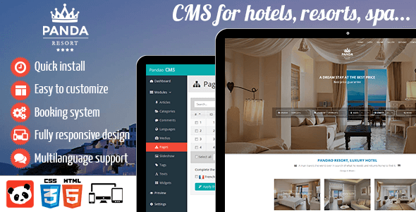 Panda Resort v4.5.1 – CMS for Single Hotel – Booking System