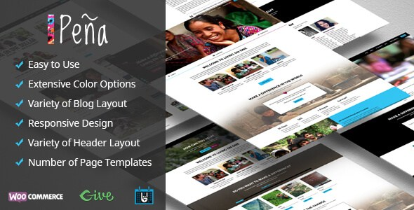 Pena v1.1.4 – Charity/Non-Profit Responsive WordPress Theme
