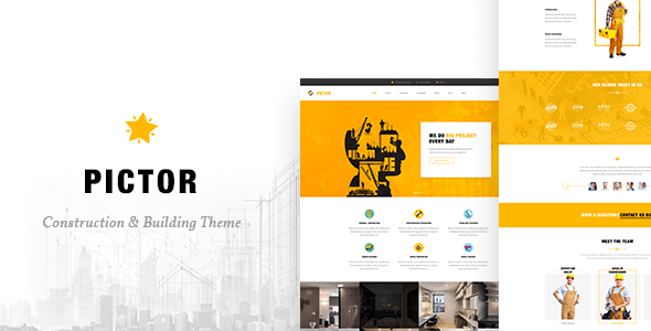 Pictor v1.0 – Construction, Building & Business HTML5 Template