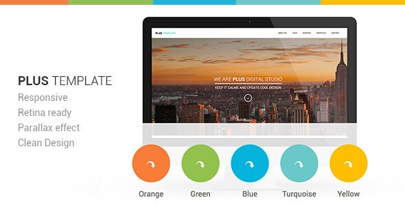 Plus v1.0 – Retina Ready Responsive One-Page HTML5 Template