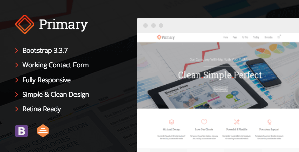 Primary v1.0.5 – Business HTML5 & CSS3 Site Template