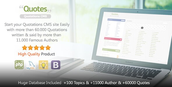 Quotes v1.0.4 – Responsive Quotation CMS PHP Script