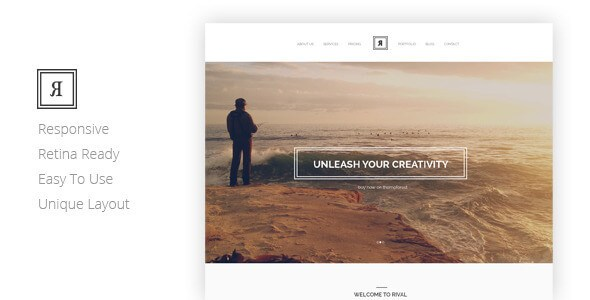 RIVAL 1.0 – Responsive Creative One Page HTML5 Template