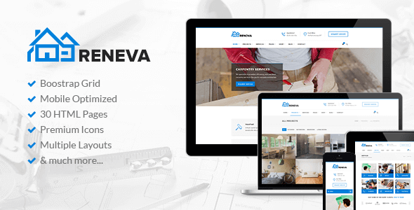 Reneva v1.0 – Construction & Renovation HTML Template