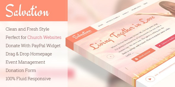 Salvation v1.1.5 – Responsive Church WordPress Theme