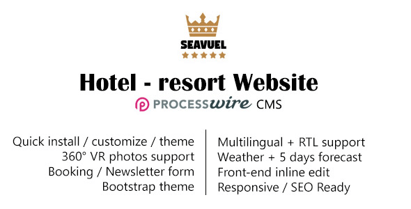 SeaVuel v1.2 – Multilingual – Hotel Website with CMS | Bootstrap theme