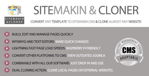 Download – Sitemakin & Cloner v6.0 – Fast CMS and Cloner PHP Script