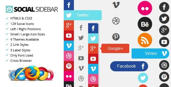 Social Sidebar – CSS3 Social Network jQuery Plugin