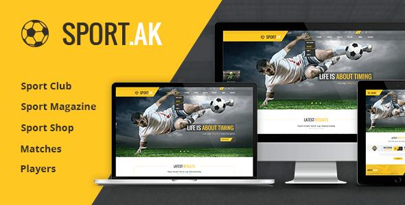 Sport.AK v1.0 – Soccer Club and Sport HTML5 Template