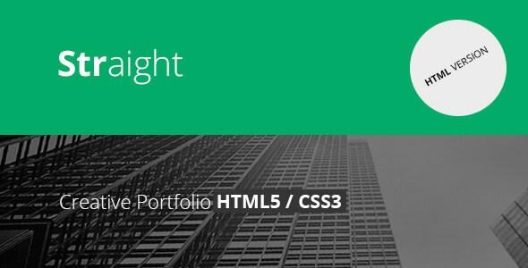 Straight – Responsive Creative Flat HTML5 & CSS3 Template