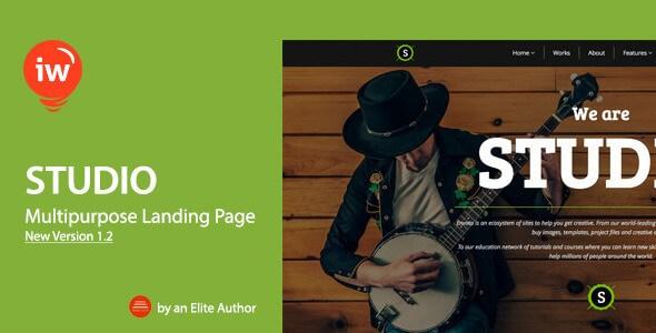 Studio v1.2 – Responsive Landing Page HTML5 Template