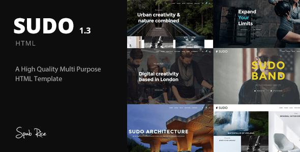 Sudo v1.3 – High Quality Multipurpose HTML Template