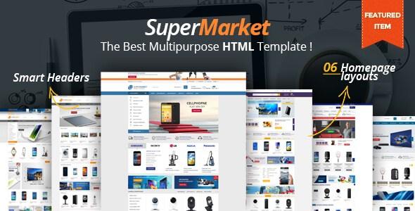 SuperMarket v1.0 – The Best Multi-Purpose HTML5 Template