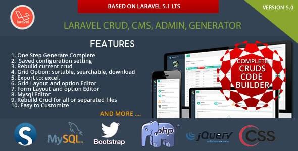 Sximo v5.1.6 – Laravel CRUD 5 LTS CMS PHP Script