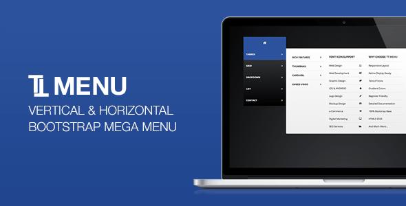 TT Menu v1.0 – Vertical Horizontal Bootstrap Mega Menu