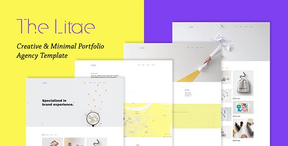The Litae v1.0 – Creative & Minimal Portfolio / Agency HTML5 Template