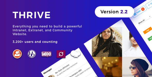 Thrive v2.2.2 – Intranet & Community WordPress Theme