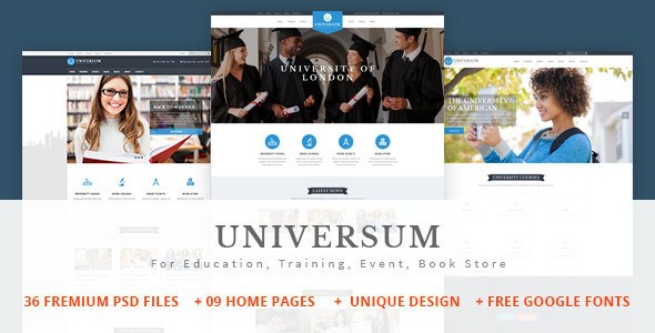 Universum v1.0 – Education, Training, Event, Book Store