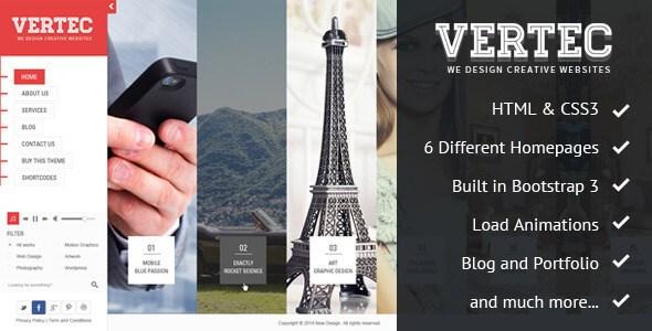 Vertec v1.0 – Responsive Creative Portfolio HTML5 Template