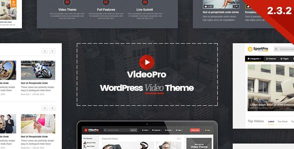 VideoPro v2.3.4.1 – Responsive Video WordPress Theme