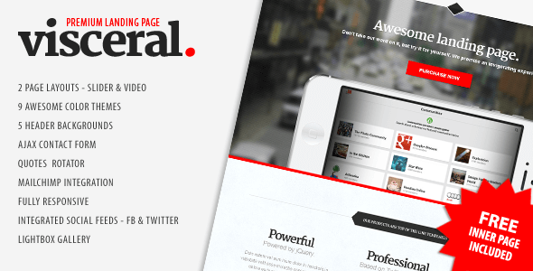 Download – Visceral – Premium Multipurpose Landing Page