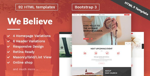 WeBelieve v1.0.2 – Church Responsive HTML5 Template