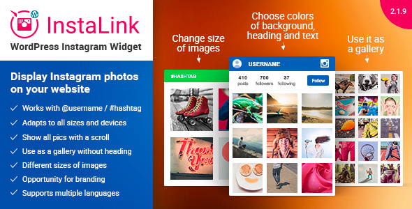InstaLink v2.1.6 – WordPress Instagram Widget plugin