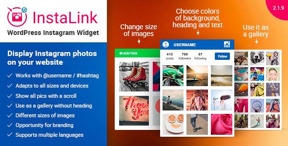 InstaLink v2.1.6 – WordPress Instagram Widget plugin