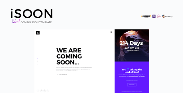 Download – iSOON – Ideal Coming Soon Site Template